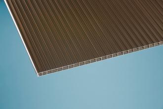 16 mm Stegplatte -Robust- bronce 980x2000 mm Polycarbonat
