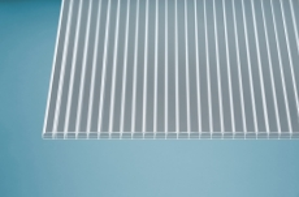 16 mm Stegplatten -Solide- klar 980x2500 mm Polycarbonat