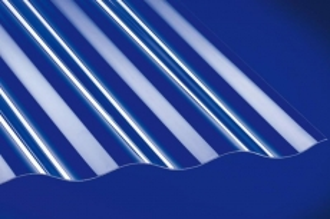 Profilplatte 76/18 Sinus glatt klar Acryl 1045x3500 mm