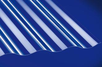 Profilplatte 76/18 Sinus glatt klar Acryl 1045x4000 mm