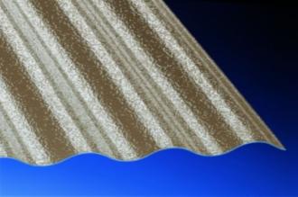 Profilplatte C-Struktur Sinus 76/18 bronce Polycarbonat 1045x2000 mm