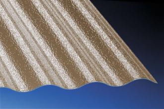 Profilplatte C-Struktur Sinus 76/18 bronce Polycarbonat 1045x4500 mm