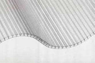 6 mm Hohlkammerwellplatte 177/51 klar Polycarbonat 1097x1250 mm