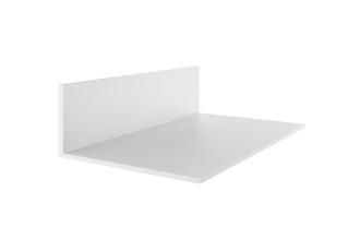 Abschluss- und Haltewinkel für 10/16er Stegplatten 36x60 mm Aluminium weiß 60er Profilbreite
